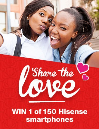 WIN 1 of 150 HiSense smartphones! Simply fill in your details below as well as the details of 3 of your friends to claim your entry!