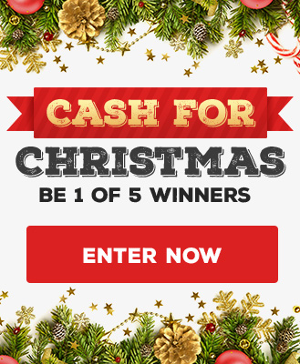 Be 1 of 5 lucky winners to get Cash for Christmas! to gain your free entry, all you need to do is fill in your details and the details of 3 of your firends.