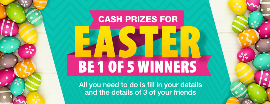 Fill in your details and details of 3 of your friend's and stand a chance to win!