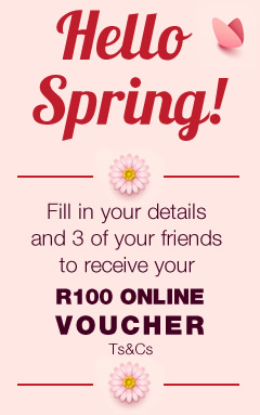Celebrate Spring with HomeChoice and receive a R100 VOUCHER for you and your friends