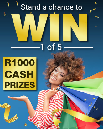 Stand a chance to WIN 1 of 5 R1000 cash prizes