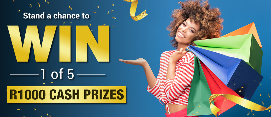Stand a chance to WIN 1 of 5 R1000 cash prizes All you need to do is fill in your details below as well as the details of 3 of your friends to claim your entry